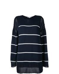 dunkelblauer bedruckter Oversize Pullover von Stella McCartney