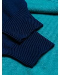 dunkelblauer bedruckter Pullover mit einem Rundhalsausschnitt von Kenzo