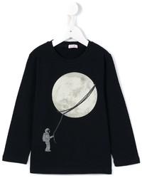 dunkelblauer bedruckter Pullover von Il Gufo