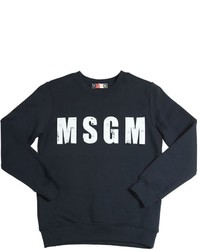 Dunkelblauer bedruckter Pullover von MSGM