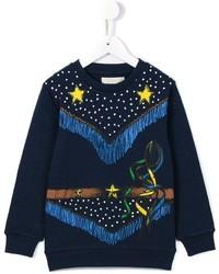 dunkelblauer bedruckter Pullover von Stella McCartney