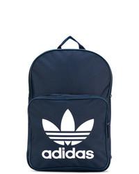 dunkelblauer bedruckter Rucksack von adidas
