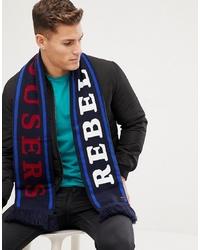 dunkelblauer bedruckter Schal von Barts