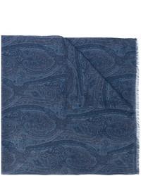 dunkelblauer bedruckter Schal von Etro