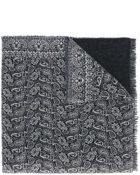 dunkelblauer bedruckter Schal von Forte Forte