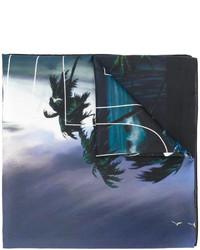 dunkelblauer bedruckter Schal von Givenchy