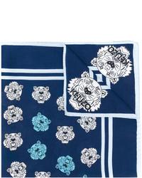 dunkelblauer bedruckter Schal von Kenzo