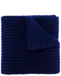 dunkelblauer bedruckter Schal von Marni