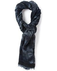dunkelblauer bedruckter Schal von Paul & Joe