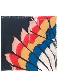 dunkelblauer bedruckter Schal von Stella McCartney