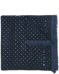 dunkelblauer bedruckter Schal von Twin-Set