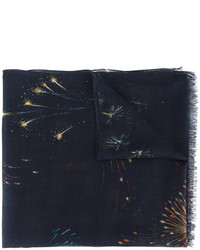 dunkelblauer bedruckter Schal von Valentino