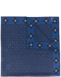 dunkelblauer bedruckter Wollschal von Givenchy