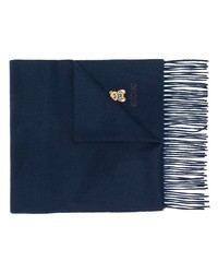 dunkelblauer bestickter Schal von Moschino