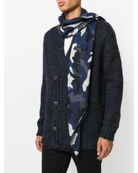 dunkelblauer Camouflage Schal von Valentino