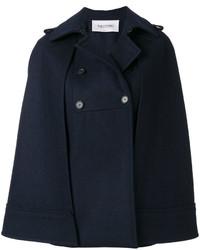 dunkelblauer Cape Mantel von Valentino