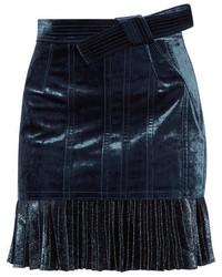 dunkelblauer Chiffon Minirock von 3.1 Phillip Lim