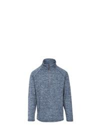 dunkelblauer Fleece-Pullover mit einem Reißverschluss am Kragen von Trespass