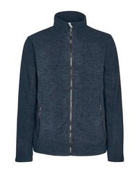 dunkelblauer Fleece-Pullover mit einem Reißverschluß von Killtec