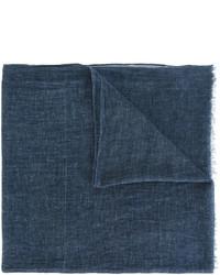dunkelblauer geflochtener Baumwollschal von Diesel