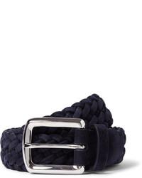 dunkelblauer geflochtener Gürtel von Brunello Cucinelli