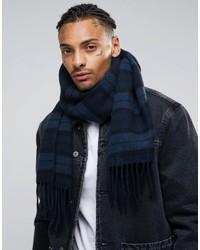dunkelblauer geflochtener Schal von Asos