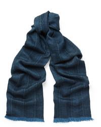 dunkelblauer geflochtener Schal von Lanvin
