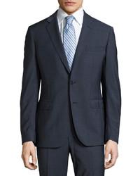 dunkelblauer gepunkteter Anzug