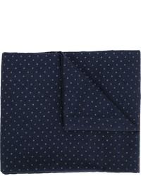 dunkelblauer gepunkteter Schal von Engineered Garments