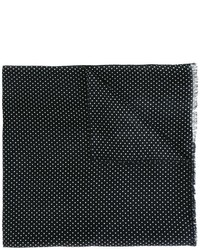 dunkelblauer gepunkteter Schal von Ermenegildo Zegna