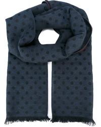 dunkelblauer gepunkteter Schal von Paul Smith