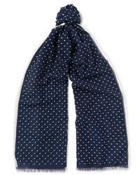 dunkelblauer gepunkteter Schal