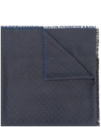 dunkelblauer gepunkteter Wollschal von Dolce & Gabbana