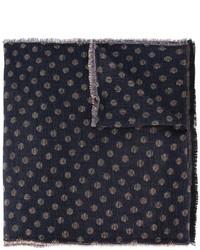 dunkelblauer gepunkteter Wollschal von Lardini