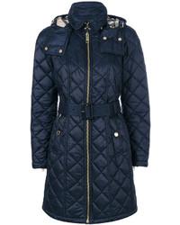 dunkelblauer gesteppter Mantel von Burberry