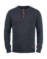 dunkelblauer Henley-Pullover von BLEND