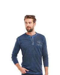 dunkelblauer Henley-Pullover von ENGBERS