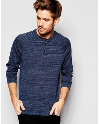dunkelblauer Henley-Pullover von Esprit