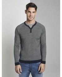 dunkelblauer Henley-Pullover von Tom Tailor