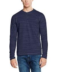 dunkelblauer Henley-Pullover von Tommy Hilfiger