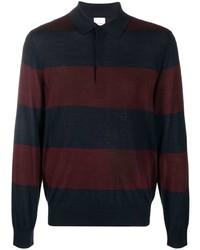 dunkelblauer horizontal gestreifter Polo Pullover von Paul Smith