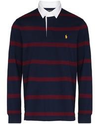 dunkelblauer horizontal gestreifter Polo Pullover von Polo Ralph Lauren
