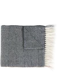 dunkelblauer horizontal gestreifter Schal von Eleventy