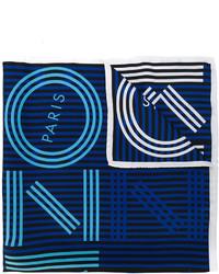 dunkelblauer horizontal gestreifter Schal von Kenzo