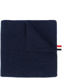 dunkelblauer horizontal gestreifter Schal von Thom Browne