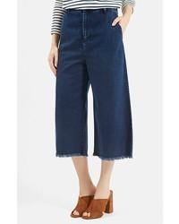 dunkelblauer Hosenrock aus Jeans