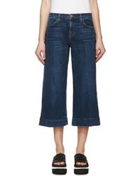 dunkelblauer Hosenrock aus Jeans von J Brand