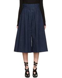 dunkelblauer Hosenrock aus Jeans von J.W.Anderson