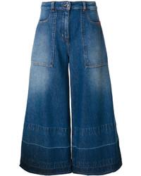 dunkelblauer Hosenrock aus Jeans von Love Moschino