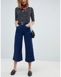 dunkelblauer Hosenrock aus Jeans von Maison Scotch